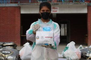 Nepal  Stiamo consegnando kit igienici a migliaia di persone.
