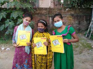 Bangladesh  Abbiamo organizzato gare di disegno con premi per i bambini