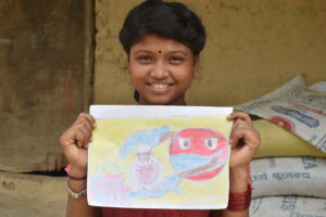 Nepal  Svolgiamo attività di sensibilizzazione e informazione con i bambini